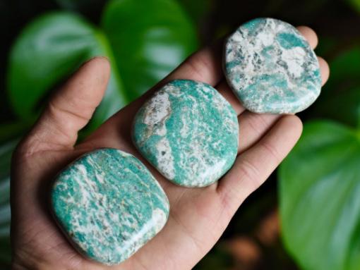 Natural Blue Amazonite Palm Size