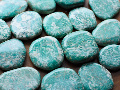 Russian Amazonite Crystal Very Blue Stone With White Veins