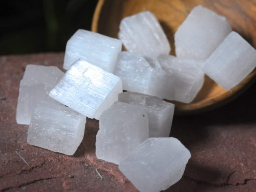 Small White Selenite Cubes For Cleansing And Protection