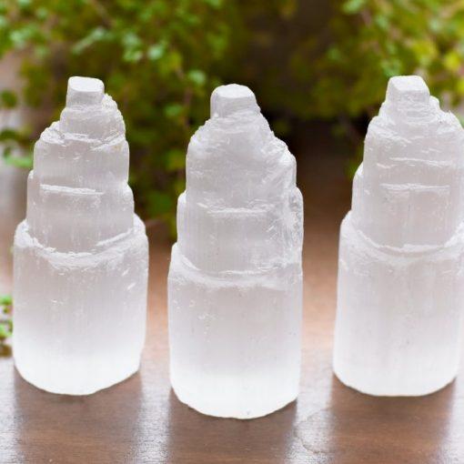 Mini Selenite Tower Bulk Crystals Sale
