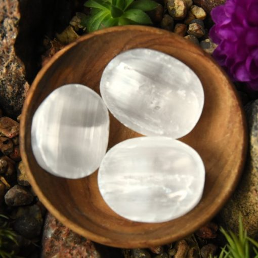 Bulk Selenite Worry Stone Healing Crystal Thumb Stone Selenite Crystals Bulk Sale
