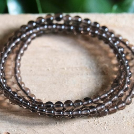 Clear Smoky quartz bracelet Crystal Stone Beads Jewelry Bracelet Gift Sale