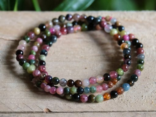 Watermelon Tourmaline Bracelet Green Pink Tourmaline Jewelry Gift Sale Wholesale Crystals