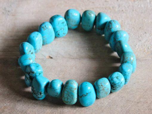 Blue Turquoise Stone Bracelet Jewelry Gift Sale