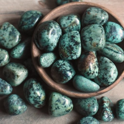 Small African Turquoise Tumbled Stones Natural Blue Teal Crystals Bulk Sale