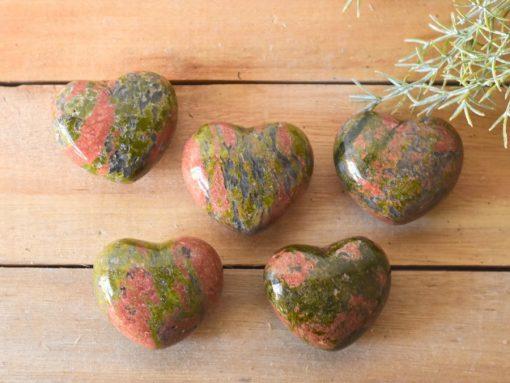 Heart Shape Unakite Jasper Hearts Unakite Stone Healing Crystal For Growth And Development