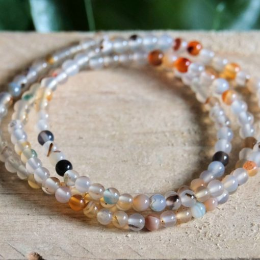 Natural Stone Bead Bracelet Agate Round Beads Jewelry Sale