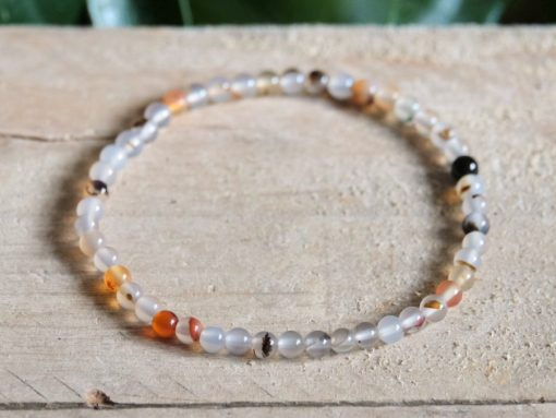 Natural Stone Agate round Beads Bracelet Jewelry Gift Sale