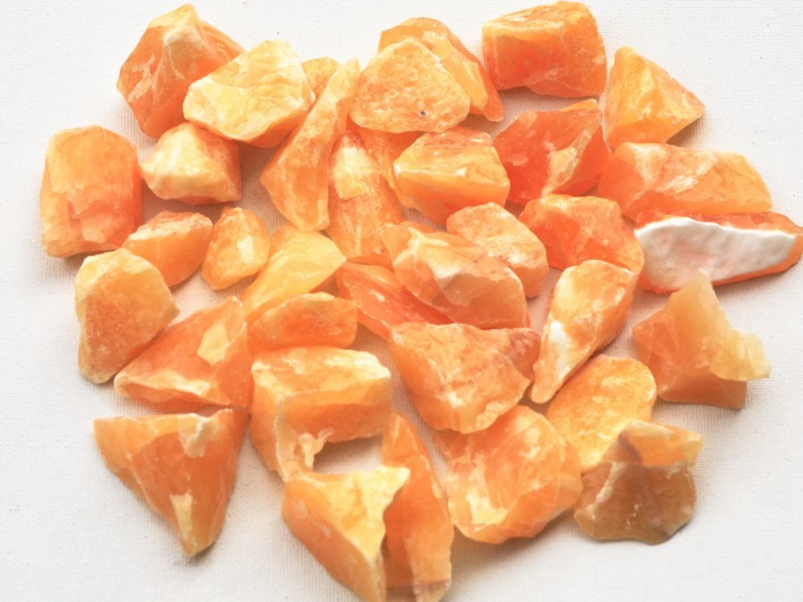 Yellow Calcite Rough Stone Crystal Bulk Sale