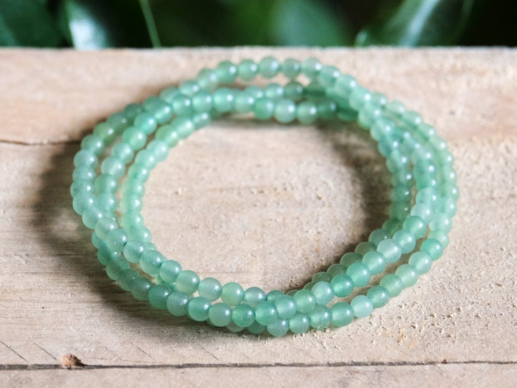 Green Aventurine Bracelet Lucky Stone For Prosperity Healing Crystals Bracelets For Sale