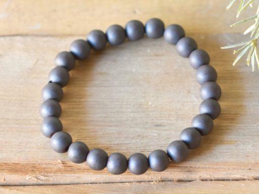 LARGE Hematite Men's Bracelet Natural Hematite Stone Bead Prayer Beads Sale