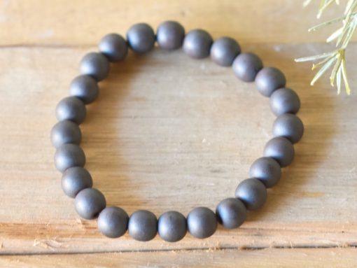 Natural Hematite Bracelet LARGE Hematite Stone Men's Jewelry Gift For Men