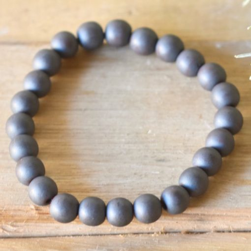 Natural Hematite Bracelet LARGE Hematite Stone Men's Jewelry Gift For Men
