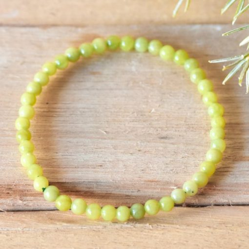 Neon Yellow Jade Crystal Bracelet For Career Success And Good Luck   Best Crystals Wholesale