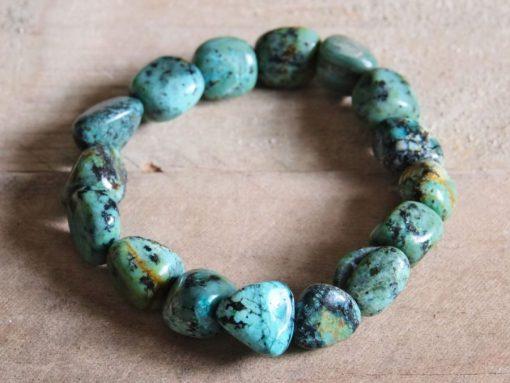 African Turquoise Stone Yoga Bracelet Gift