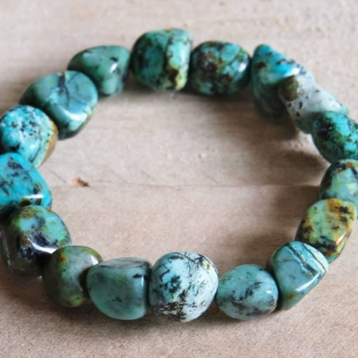 African Turquoise Crystal Bracelet Blue TEal african Turquoise Stone Jewelry Gift Sale