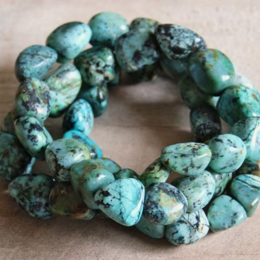 Large African Turquoise Bracelet Blue Teal Turquoise Stone Gift