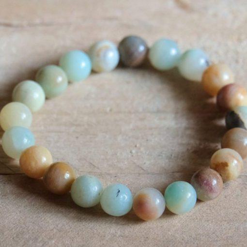 Blue Amazonite Bracelet Natural Amazonite Stone Bead Bracelet Gift Wholesale Crystals Jewelry