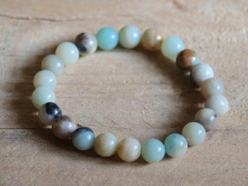 Large Amazonite Bracelet Blue Amazonite Crystal Bracelet Sale