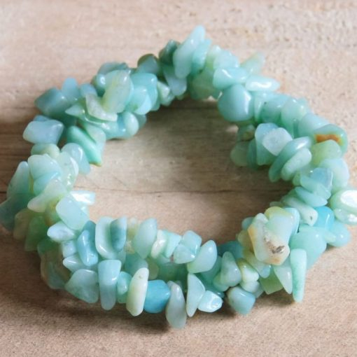 Raw Amazonite Chip Gemstone Bracelet Best Friend Healing Crystal Gift Sale
