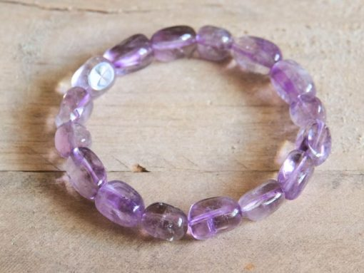 Amethyst Healing Crystal Bracelet February Birthstone Birthday Gift Sale