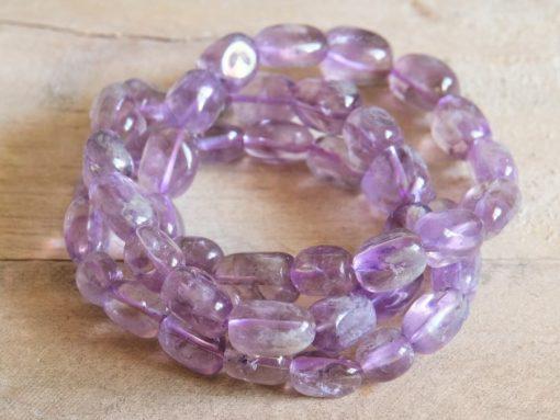 Natural Amethyst Bracelet Lilac Purple Amethyst Crystal Gemstone Bracelet Jewelry Gift