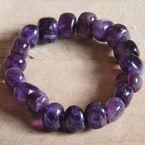 Purple Chevron Amethyst Crystal Bracelet Deep Purple Bracelet Jewelry Gift Sale