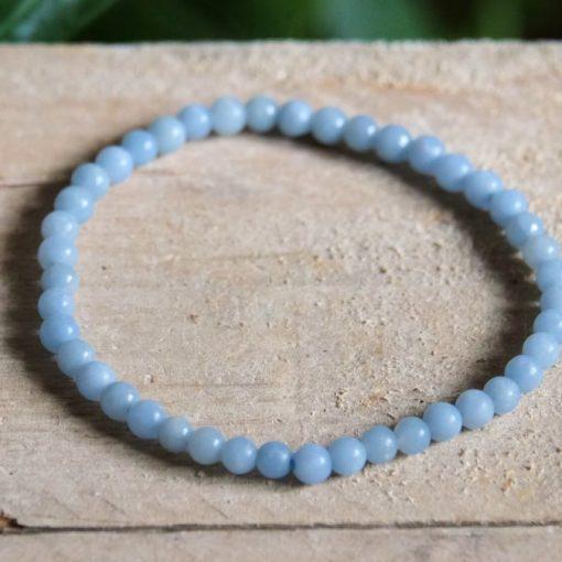Natural Blue Angelite Crystal Gemstone Bracelet Jewelry For Sale
