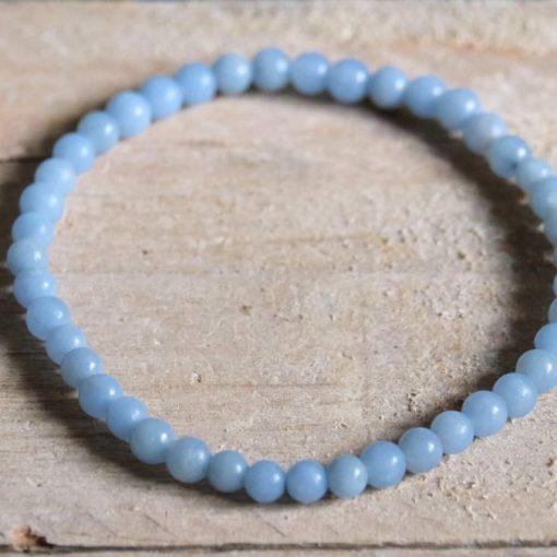 Blue Angelite Gemstone Bracelet For Sale