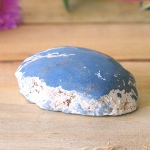 Blue Angelite Stone Polished Top Tumbled Crystal