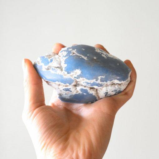 Large Angelite Stone Slab From Peru