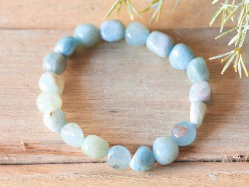 Genuine Aquamarine Crystal Bracelet | March Birthstone Birthday Gift Idea For Mom And Best Friend