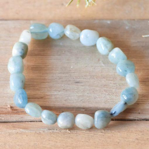 Natural Aquamarine Bracelet Jewelry Gift Sale