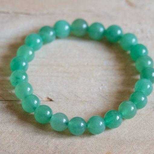 Green Crystal Aventurine Jewelry Lucky Stone Aventurine Round Beads Healthy Meditation Bracelet Luck Gift