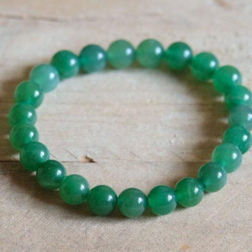 Large Green Aventurine Bracelet Crystal Round Bead Stretch Bracelet Adventurine Lucky Stone Gift