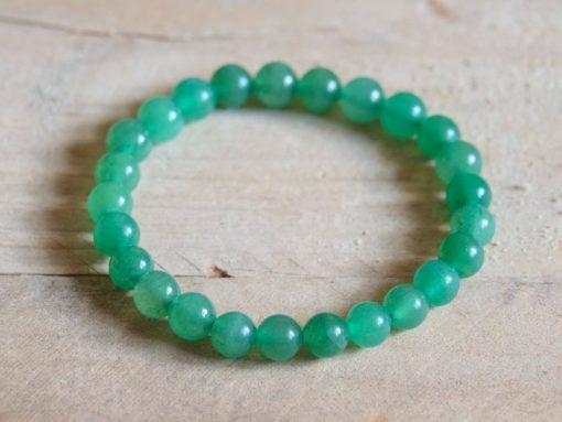 Green Aventurine Stone Round Bead Stretch Bracelet Gift Sale