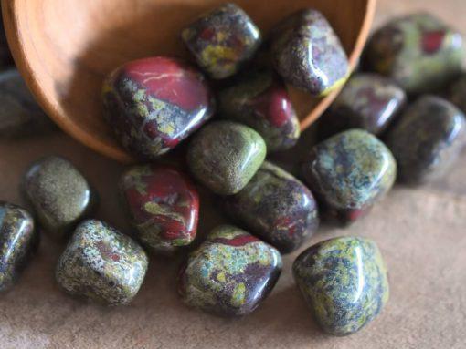 Dragon Blood Jasper Tumbled Stone Dragon's Bloodstone Polished Rocks Bulk Crystals Wholesale