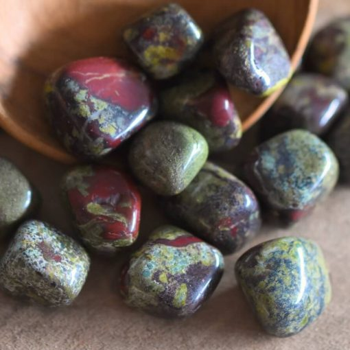 Dragon Blood Jasper Tumbled Stone Dragon's Bloodstone Polished Rocks Bulk Crystals Wholesale