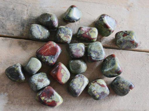 Dragon's Blood Stone Heliotrope Dragon Bloodstone Tumbled Stones Bulk Sale