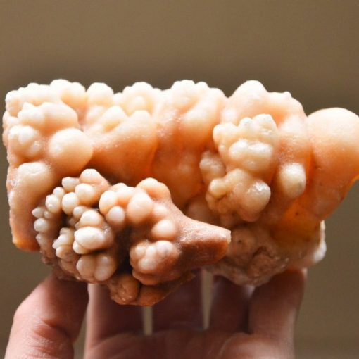 Orange Aragonite Cave Calcite Mineral Specimen Freeform Moroccan Calcite Stone