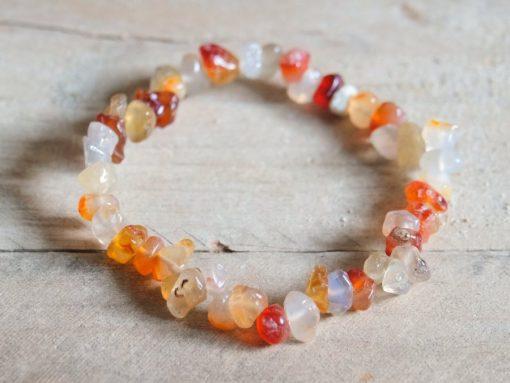 Red Carnelian Stone Chip Bracelet Gift Sale