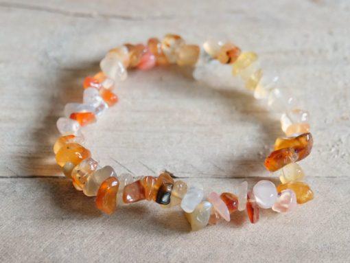 Red Carnelian Bracelet Stretch Elastic Jewelry Gift