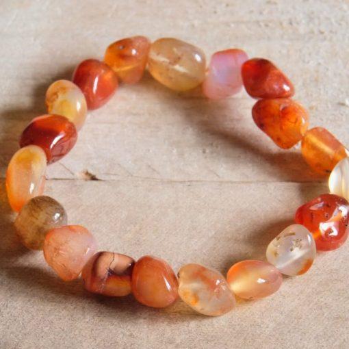LARGE Red Carnelian Bracelet Natural Stone Jewelry Sale