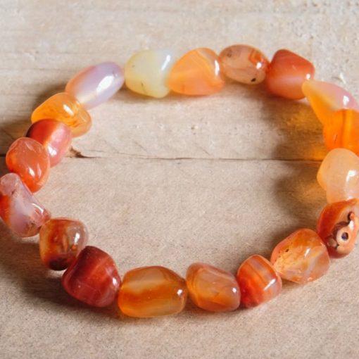 Red Carnelian Bracelet Healing Stone Carnelian Crystal Jewelry