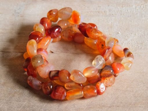 Natural Carnelian Bracelet  Tumbled Red Carnelian Crystal For Positive Energy Healing Crystal Gift Sale