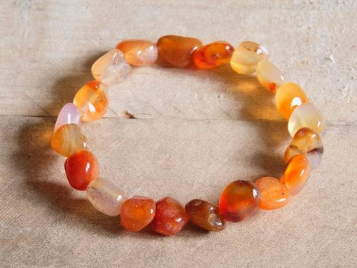 Red Carnelian Crystal Bracelet Tumbled Stone Carnelian Get Well Soon Gift Sale
