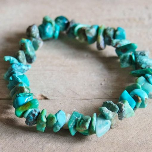 Chrysocolla Crystal Bracelet Chips Jewelry Gift | Stone of Communication Healing Crystal Gift