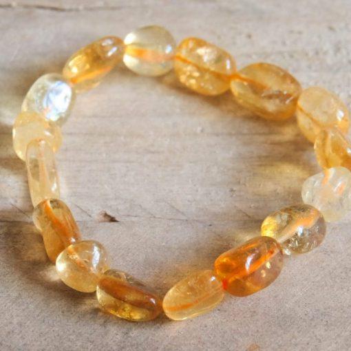 Genuine Citrine Bracelet | Citrine Gemstone November Birthstone Jewelry For Mom Birthday Gift | Natural Citrine Bracelet