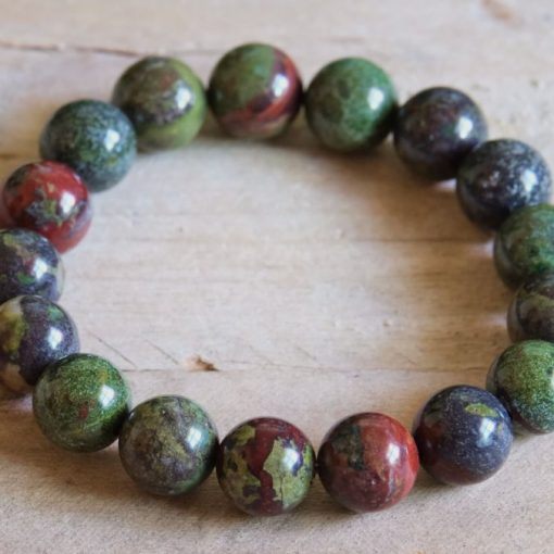 Dragon Blood jasper Stone Bead Bracelet Dragon's Blood Stone Bloodstone Men's Jewelry Sale