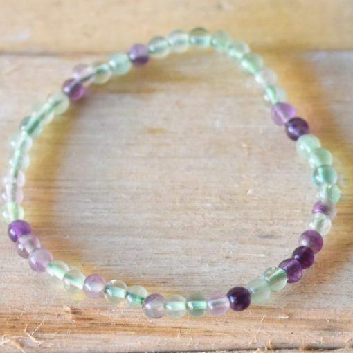 Why Wear Crystal Bracelets Healing Crystal Reiki Therapy With Rainbow Fluorite Crystal Bracelet
